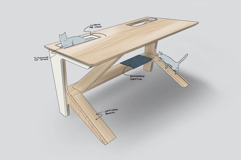 diseno de escritorio para gatos (4)