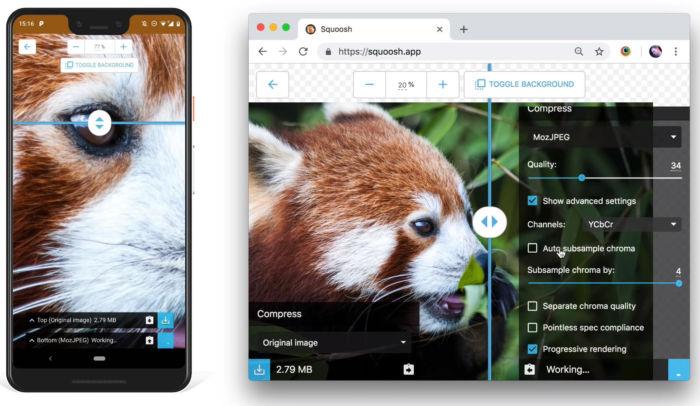 convertidor de imágenes de Google para navegadores