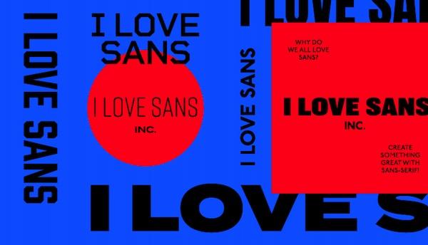 """""""I Love Sans"""" Pack"""