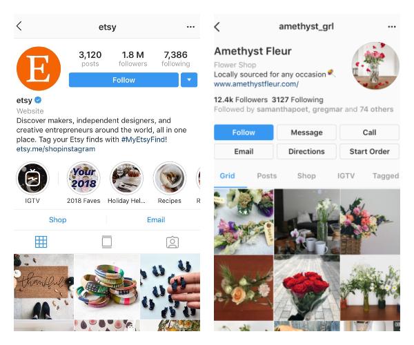 (Diseño Actual) Perfil de negocio de Instagram (Rediseño)