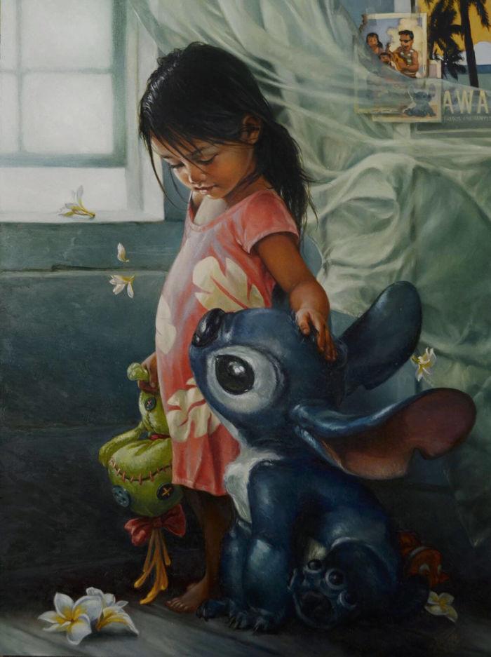 pinturas al oleo de personajes de Disney (11)