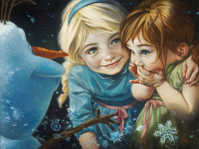 pinturas al oleo de personajes de Disney (7)