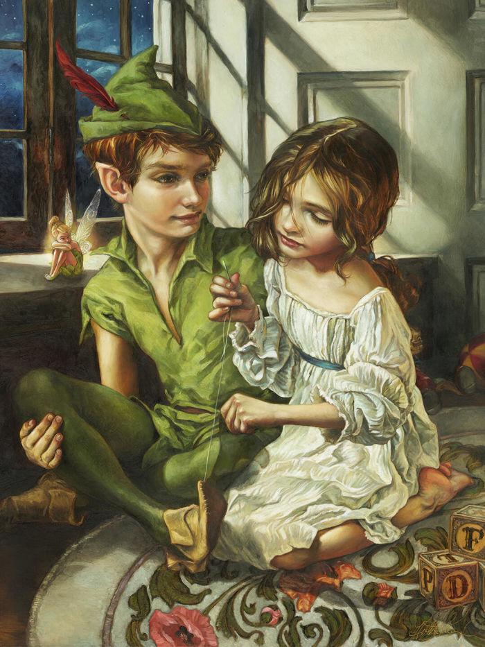 pinturas al oleo de personajes de Disney (9)