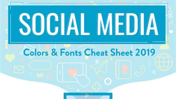 tendencias en fuentes y colores en redes sociales