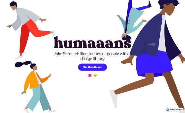 app web para crear y mezclar ilustraciones de personas