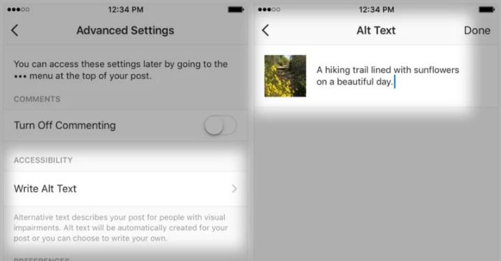 IA que describe fotos para personas con discapacidad visual de Instagram