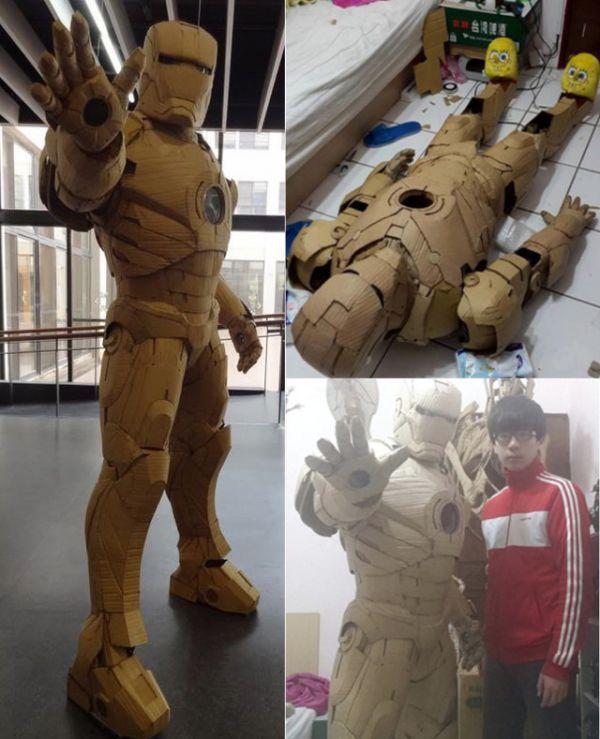 Esculturas de cartón por Kai-Xiang Xhong