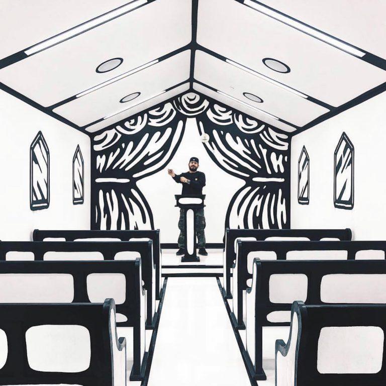 iglesia boceto por Joshua Vides