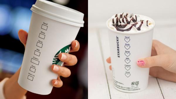 diseño de taza de Starbucks para San Valentín 2019