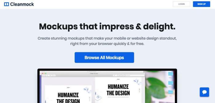 Cleanmock, un sitio web para crear mockups fácilmente