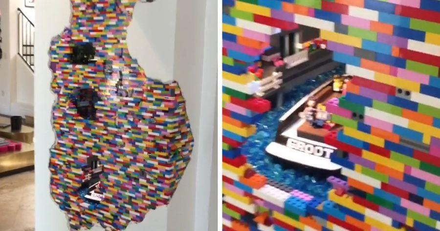 muro de LEGO por Dante Dentoni