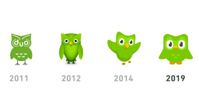 mascota de Duolingo
