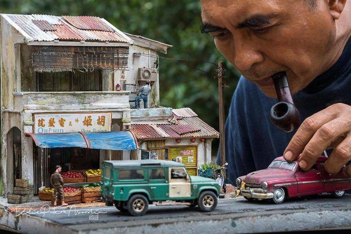 arte en miniatura por Eddie Putera
