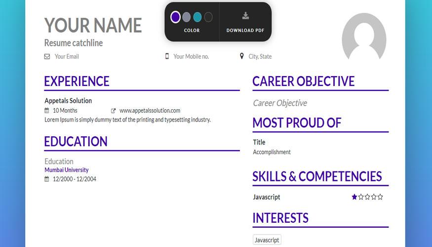 sitio web para diseñar tu CV en linea