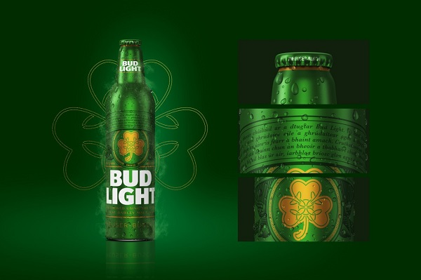 Botella de san patricio de Bud Light