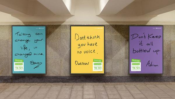 campaña con gráficos contra la depresión y el suicidio