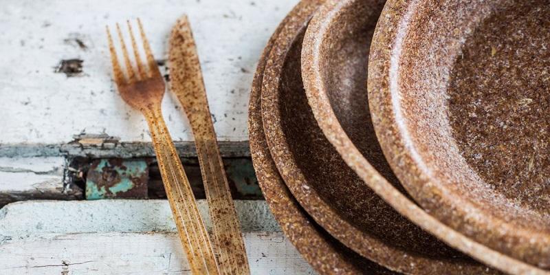 Platos y cubiertos 100% biodegradables