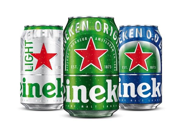 diseño de latas de Heineken
