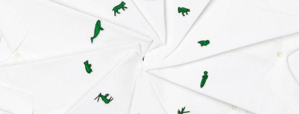 Logos con animales en peligro de extinción de Lacoste