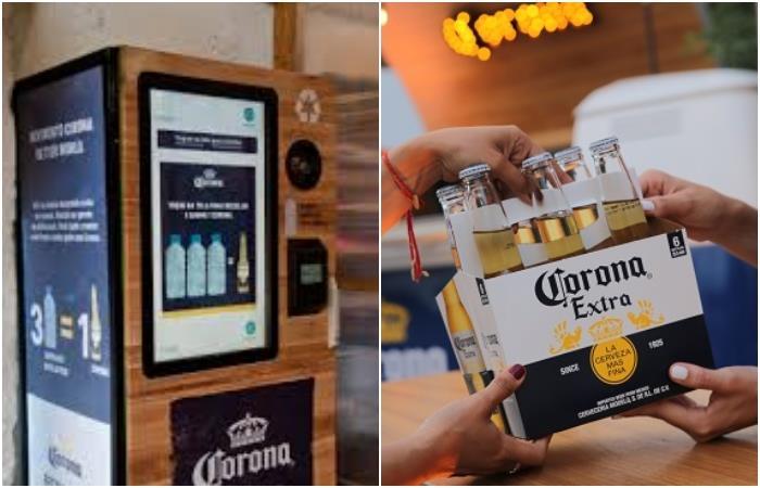 campaña para cambiar plástico por cerveza