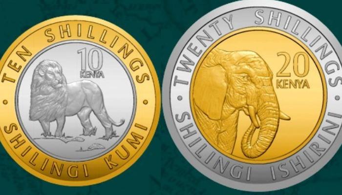 Diseños de monedas con animales de Kenia