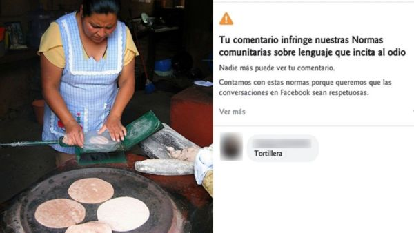 Facebook prohíbe la palabra tortillera