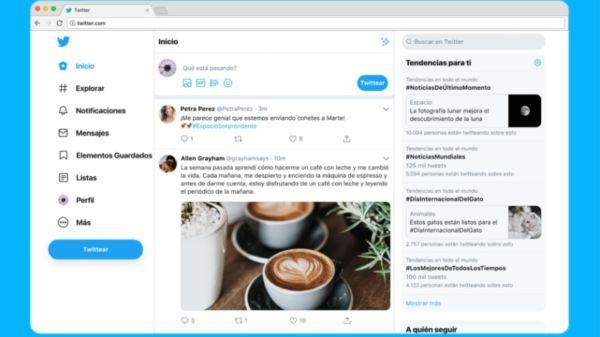 Nuevo diseño web de Twitter