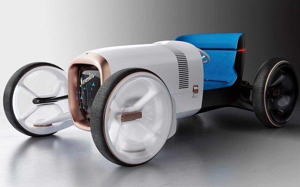 diseño retro-futurista de mercedez benz