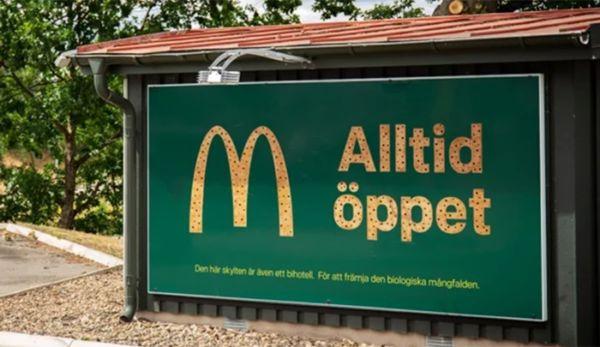 hábitats para abejas de McDonald's