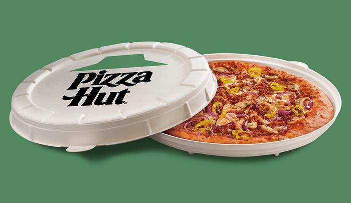 Packaging sostenible de Pizza Hut