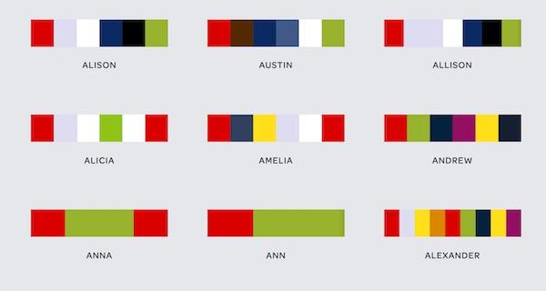 ¿De que color es tu nombre?