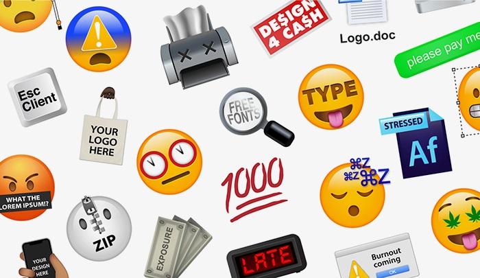 emojis dedicados a diseñadores